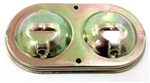1966 - 1969 Chevelle and Nova Brake Master Cylinder Cover Lid for Power Disc with Delco Wording