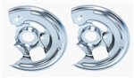1967 - 1968 Chevelle Front Disc Brake Backing Plates for 4 Piston Calipiers with GM Part Numbers, Pair