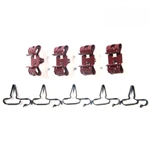 1964 - 1966 Chevelle Brake Line Clip Set, 9 Piece Kit