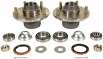 1964 - 1972 Chevelle and Nova Front Brake Drum Hubs with Races, Bearings, Studs, and Seals