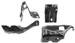 1971 - 1972 Chevelle Bumper Brackets (Rear, 4 Pieces) (All Except El Camino and Wagon), Set