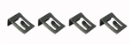 1964 - 1968 Chevelle Convertible Top Switch Mounting Clip Set