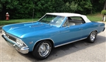 1966 - 1967 Chevelle Convertible Top, White with Plastic Window