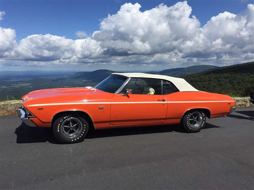 1968 1972 Chevelle Convertible Top White Superior Material With