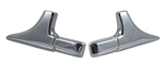 1970 - 1972 Chevelle Vinyl Top Trim Mouldings, Front Corners Only, Pair