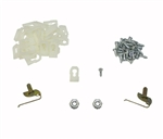 1968 - 1969 Chevelle Vinyl Top Molding Clips Set: Clips, Studs, and Nuts