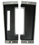 1968 - 1974 Console Shift Plate, Automatic Transmission, Chrome Plated with Bonded Matte Black Insert, 2 Pieces