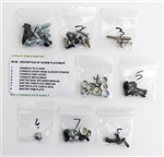 1968 - 1972 Chevelle Console Housing Assembly Hardware Screws Set