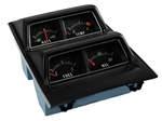1968 - 1974 Nova Console Gauge Package Assembly, Black Faces