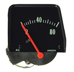1968 - 1974 Nova Console Oil Pressure Gauge, Black Face