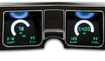 1968 Chevelle Dash Instrument Cluster Gauges System, Digital LED, Speedometer, Tachometer, Oil Pressure, Water Temp, Voltmeter, Fuel