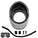 1968 Chevelle Black Dash Air Vent Bezel Housing Kit with Retainer and Seal, LH