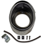 1969 Chevelle Black Dash Air Vent Bezel Housing Kit with Retainer and Seal, LH