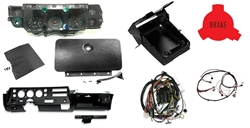 1970 Chevelle Super Sport Complete Dash Kit with OE Style Pre-Assembled SS Round Gauge Instrument Cluster, Circuit Board, Headlight Harness, Dash Harness and 6500 Redline Tach