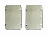 Kick Panel Speaker Grilles, 68-69 Nova and 65-69 Chevelle, O.E. Style - Pair