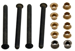 1968 - 1972 Chevelle Door Hinge Pins and Bushings Set, Complete, 4 Pins and 8 Bushings