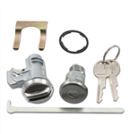 1970 - 1972 Chevelle Glove Box and Trunk Lock Cylinders with GM Round Headed Keys, Kit