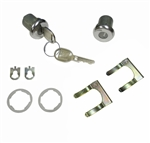 1962 - 1979 Nova Door Lock Set with GM Round Headed Keys, Pair