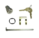 1964 - 1976 Chevelle Trunk Lock Set With Round Headed Keys, (Except 1967)