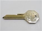 1968 Key Blank, GM Logo with Octagon Head, OE Style