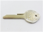 1968 Key Blank, GM Logo with Pearhead, OE Style
