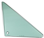 1966 - 1967 Chevelle Vent Window Glass, RH, Green Tint, 2 Door Hardtop or Convertible