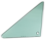 1966 - 1967 Chevelle Vent Window Glass, LH, Green Tint, 2 Door Hardtop or Convertible, Each