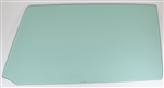 1966 - 1967 Chevelle Door Glass, LH, Green Tint, 2 Door Hardtop & Convertible, Each