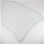 1966 - 1967 Chevelle Quarter Window Glass, LH, Clear, Coupe