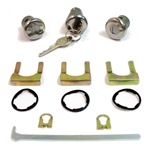 Chevelle and Nova Door and Trunk Lock Kit with GM Original Style Pear Headed Keys