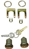 1964 -1966 Chevelle Door Locks Set, Original GM Pear Head Style Keys