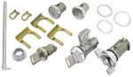 1970 - 1972 Chevelle Complete Lock Cylinder Set, Square Head