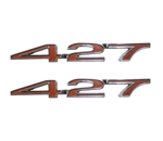 "Custom Emblems, ""427"" Engine Size, Red, Pair"