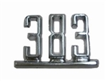 "1965 - 1967 Chevelle Front Fender Emblems ""383"", Pair"