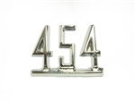 "1965 - 1967 Chevelle Fender Emblem, ""454"" Engine Size, Chrome, Each"