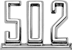 1965 - 1967 Chevelle Custom Chrome 502 Fender Emblem, Each