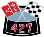 Air Cleaner Cross Flag Emblem, Die-Cast 427