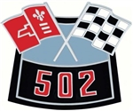 Air Cleaner Cross Flag Emblem, Die-Cast 502
