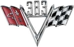 "383 Custom ""V"" Flag Engine Size Emblem"