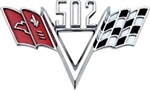 "502 Custom ""V"" Flag Engine Size Emblem"