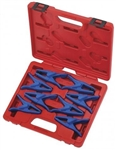 Adjustable 8 Piece Fluid Line Stopper Clamp Tool Kit