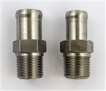 1966 - 1972 Stainless Steel Heater Hose Fittings, Pair