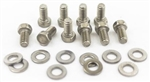 1964 - 1972 Chevelle and Nova Timing Chain Cover Bolts Set, Stainless Steel 10 Pieces