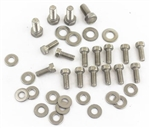 1964 - 1972 Chevelle and Nova Small Block Oil Pan Bolts Set, Custom Stainless Steel