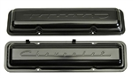 1964 - 1967 Small Block Chevy Chevrolet Script Valve Covers, Black