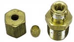 1966 - 1972 Chevelle or Nova Oil Pressure Line Fitting Nut and Sleeve, Block Side