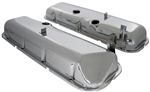 1966 - 1972 Chevelle or Nova Big Block Chrome Valve Covers with Slant, With Drippers