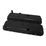 1965 - 1995 CHEVY BIG BLOCK 396, 427, & 454 BLACK STEEL OE STYLE VALVE COVER SET WITHOUT DRIPPERS, SHORT