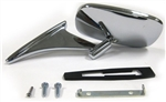 1970 - 1972 Chevelle Chrome Door Mirror, Non-Remote LH or RH, Each