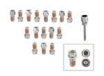 Mr Gasket Stainless Steel Headlock Locking Header Bolts, 16 Piece Set